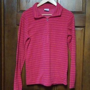 Columbia Fleece 3/4 Zip Sweater, Size M